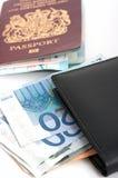 护照钱包 免版税图库摄影