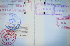 护照页 库存图片
