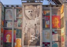 护理`的`演变的面孔由Meg Saligman,费城,宾夕法尼亚的 图库摄影