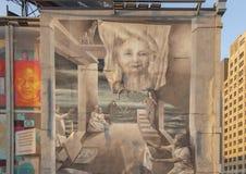 护理`的`演变的面孔由Meg Saligman,费城,宾夕法尼亚的 库存照片