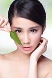 护肤和有机化妆用品 免版税库存图片