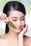护肤和有机化妆用品 免版税库存照片