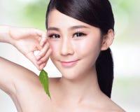 护肤和有机化妆用品 库存图片
