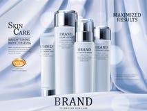 护肤广告 向量例证