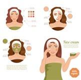 护肤Face.Fresh健康皮肤Face.Young女孩用新鲜的黄瓜 免版税图库摄影