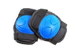 护膝和被隔绝的肘垫子 图库摄影