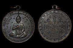 护身符硬币,最著名和最佳的护身符`从老挝的s 图库摄影