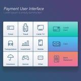 报亭或应用传染媒介例证平的设计的付款网上用户接口现代屏幕 免版税库存图片