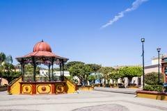 报亭的美丽的景色在大广场 图库摄影