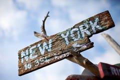 报名参加到纽约 免版税库存图片