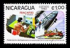 报告下沉的划线员船,业余无线电爱好者serie,大约1983年 库存照片