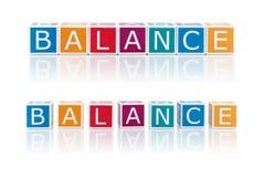 报告与颜色块的题目。平衡。 免版税库存图片