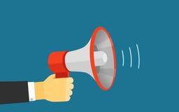 报告人传染媒介例证的大声的声音 库存图片