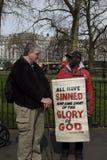 报告人` s角落在海德公园,伦敦 库存图片