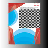 年终报告传单小册子飞行物模板设计 库存图片