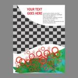 年终报告传单小册子飞行物模板设计 免版税图库摄影