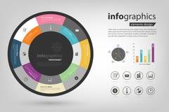 报告和表现Infographic 库存照片