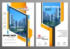 年终报告和介绍模板设计 向量例证