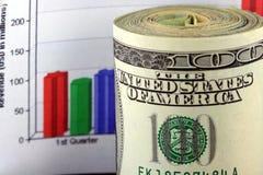 报告收入 免版税库存照片