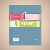 年终报告盖子传染媒介例证 免版税库存图片
