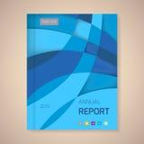 年终报告盖子传染媒介例证 免版税库存照片