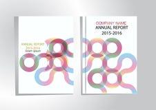 年终报告盖子,盖子报告五颜六色的设计背景 库存照片