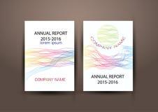年终报告盖子,盖子报告五颜六色的设计背景 免版税库存图片