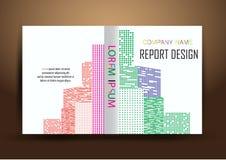 年终报告盖子,盖子报告五颜六色的设计背景 库存图片