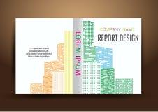 年终报告盖子,盖子报告五颜六色的设计背景 免版税库存照片