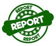 报告绿色邮票 库存图片