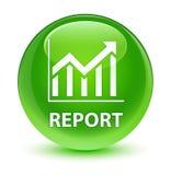 报告(统计象)玻璃状绿色圆的按钮 图库摄影