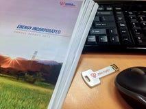 年终报告2013 TNB 免版税库存照片