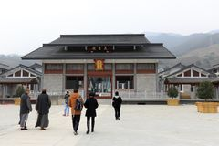 报国寺寺庙在浙江菩萨学院,多孔黏土rgb 库存照片