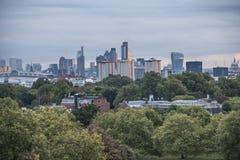 从报春花小山,伦敦的看法;公园 免版税图库摄影