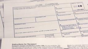 报税表1099-MISC 影视素材