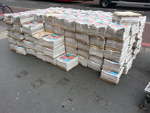 报纸交付 免版税库存图片