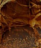 报纸刻在岩石上的文字岩石犹他 免版税库存照片