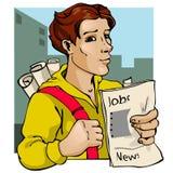 报纸卖主 向量例证