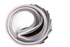 报纸卷起了 库存照片
