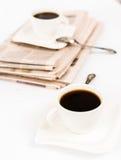 报纸和咖啡 图库摄影