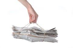报纸捆绑 免版税图库摄影