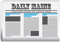 报纸每日缅因 皇族释放例证