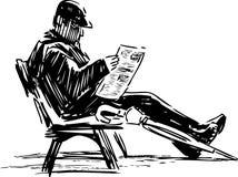 读报纸的人 免版税图库摄影