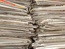报纸的汇集已经写入回收半新p 免版税图库摄影