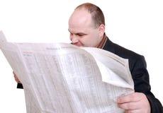 报纸读取 免版税库存照片