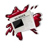 报纸谋杀图标 免版税库存图片