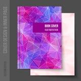 报道企业小册子的设计,年终报告 免版税库存图片