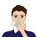 报道您的咳嗽 库存照片
