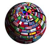 报道的地球标志polar1视图 免版税库存照片