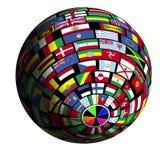 报道的地球标志polar4视图 免版税库存照片